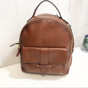 Frye Olivia Cognac Leather Mini Backpack NWT